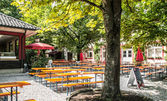 Schusterhausl beer garden munich